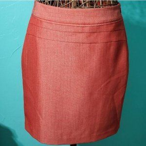 Limited Burnt orange midi pencil skirt 8 fall zips
